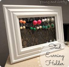 earring stud holder stud earring holder need to make one of these crafts