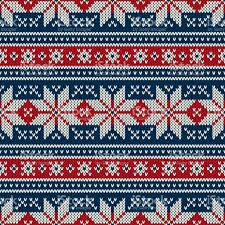 christmas pattern knit fabric winter holiday knitted pattern with snowflakes fair isle knitting