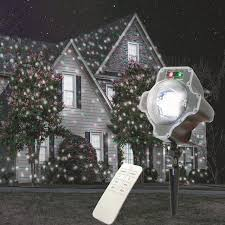 remote control christmas lights remote control led white red green laser snowfall christmas light