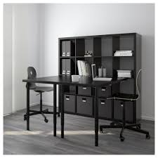 kallax workstation black brown ikea