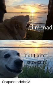 Im Mad Meme - im mad but i ain t stress snapchat chrisl93 snapchat meme on