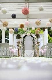 wedding ceremony ideas the touch the floral balls give this look try our hanging