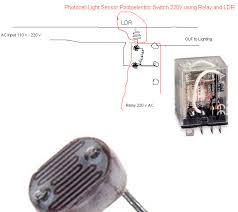 photocell light switch electronic circuit diagram and layout