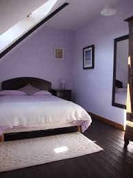 Grey And Purple Bedroom by Bedroom Elegant Attic Purple Bedrooms Ideas With White Cover For