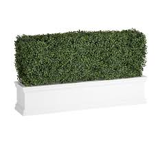 Faux Outdoor Bushes Artificial Japanese Boxwood Hedges In White Window Boxes Hooks