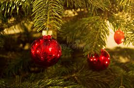 tree baubles royalty free stock photography image