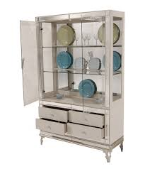 hollywood swank curio with drawer base by aico aico dining room