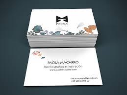 tarjeta de visita diseo paola macarro diseño tarjeta de visita