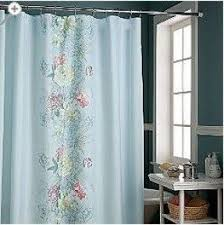 Ruffled Pink Curtains Cottage Shower Curtains Shower Curtain Rod