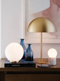 Small Table Lamps For Bedroom by Mondo Large Round Table Lamp In White Brass Lighting Pinterest