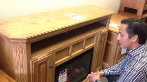 Oak Electric Fireplace Oak For Less Clearance Electric Fireplace Tv Stand Youtube