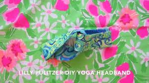 yoga headband tutorial diy lilly pulitzer yoga wrap headband tutorial giveaway read