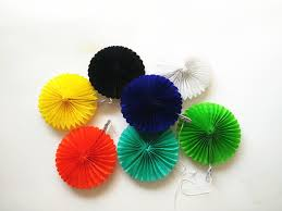 supplies 10cm paper fan wholesale tissue paper