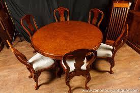 walnut regency jupe table extending round dining tables ebay