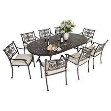 6 Seat Patio Table And Chairs Outdoor Patio Furniture Table 6 Chairs Best Patio Sets