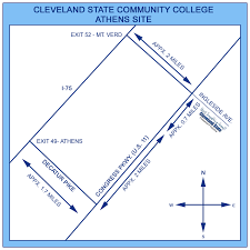 Cleveland State University Map by Campus Maps Cleveland State Community College Acalog Acms