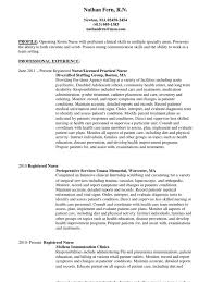 Operating Room Nurse Resume Operating Room Rn In Boston Ma Resume Nathan Fern Docshare Tips