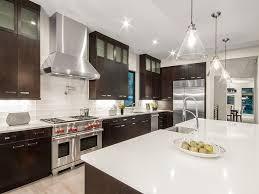 espresso kitchen cabinets with white countertops white quartz countertops kitchen design ideas designing idea