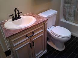 install bathroom vanity against sidewall