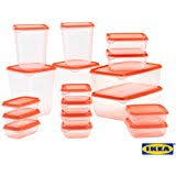 ikea food storage ikea pruta plastic container food storage containers 17 piece