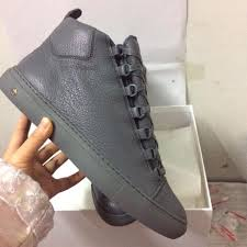 grey balenciaga arena calfskin leather high top men u0027s designer
