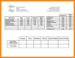 5 blank pay stubs template dialysis nurse