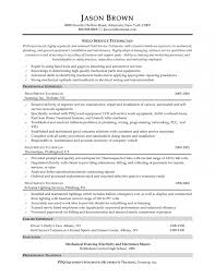 Example Resume For Maintenance Technician by Maintenance Tech Resume Template Examples