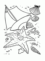 summer beach coloring page for kids seasons coloring pages