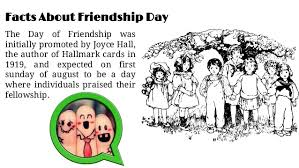 some facts about happy friendship day