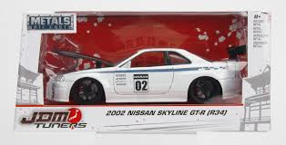 jdm tuner cars jada diecast metal 1 24 jdm tuners 2002 nissan skyline gt r r34