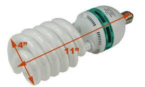 hydroponic 85 watt daylight spiral compact fluorescent grow light