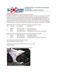 shogun motorsports yamaha fz6r 09 13 frame slider user manual