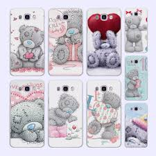 popular teddy bear quotes buy cheap teddy bear quotes lots from tatty teddy me to you bear pattern white phone shell case for samsung galaxy j5 2016