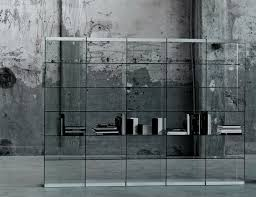 glas italia space contemporary italian bookcase in transparent glass