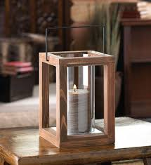 new rustic stained wood farmhouse garden glass candle holder