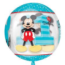mickey mouse 1st birthday boy mickey mouse 1st birthday boy clear orbz foil balloons 15 38cm