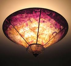 Moon Ceiling Light Sun Moon And Purple Gold Mica Blown Glass Ceiling