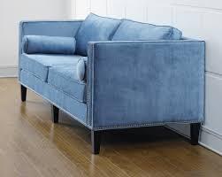 great ideas for blue velvet couch design 9025
