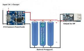cara membuat powerbank dengan panel surya memanfaatkan powerbank palsu menjadi super powerbank