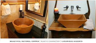 copper bathroom sinks usa crafted havens metal