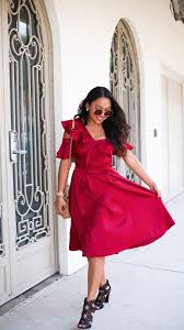 ruffle me red dress by slate u0026 willow for 35 rent the runway