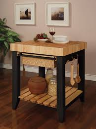 kitchen island with extension chopping table for the kitchen popular black butcher block kitchen island table from wood