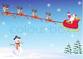 santa s sleigh stock vector colourbox