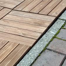 Teak Patio Flooring by Interlocking Wooden Decking Floor Tiles Garden Patio Deck Slab
