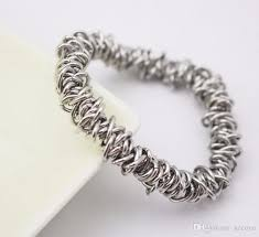 chain link bracelet charms images Making 316l stainless steel chain link silver metal charm stretch jpg