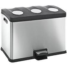 poubelle de cuisine tri s駘ectif 3 bacs poubelle tri sélectif 3 bacs eko 36l amazon fr cuisine maison