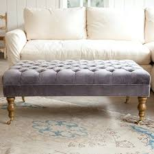 Grey Ottoman Coffee Table Tufted Grey Ottoman Etechconsulting Co