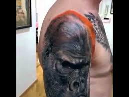 gorilla tattoo by artist gunnar v icelandic tattoo artist youtube