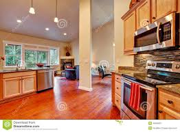 vaulted ceiling floor plans house interior open floor plan kitchen area stock photo image