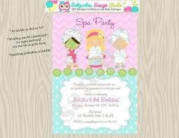30 best spa party images on pinterest birthday invitations spa